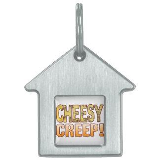 Creep Blue Cheesy Pet Name Tag