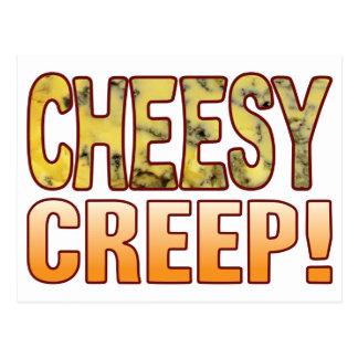 Creep Blue Cheesy Postcard