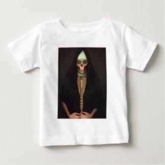 Creep Horror Nun Lady Skull Skeleton Baby T-Shirt