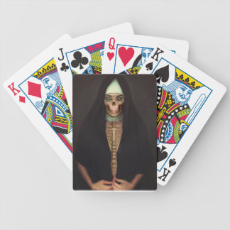 Creep Horror Nun Lady Skull Skeleton Bicycle Playing Cards