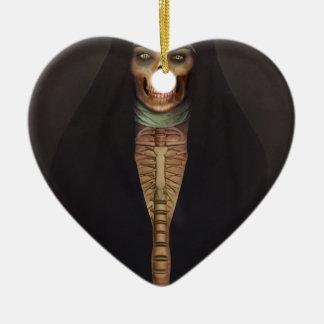 Creep Horror Nun Lady Skull Skeleton Ceramic Ornament