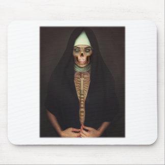 Creep Horror Nun Lady Skull Skeleton Mouse Pad