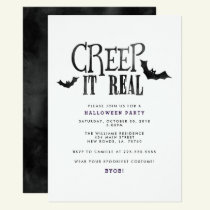Creep It Real Halloween Party Invitation