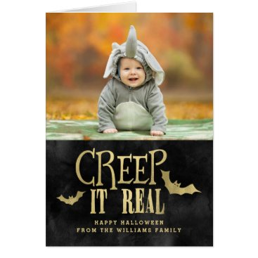 Halloween Themed Creep It Real Halloween Photo Cards