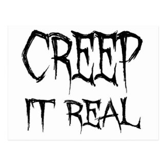 Creep it real postcard