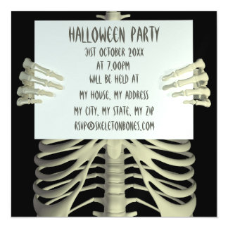 Creep Skeleton Sign Halloween Party Invitation