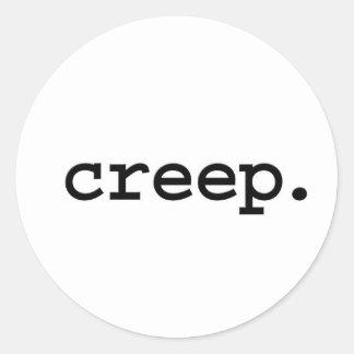 creep. round stickers