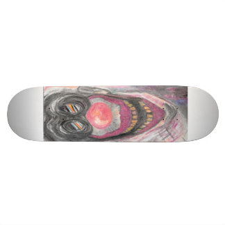 """Creeper"" Creepy Clown art by Colleen Wallen Skateboard Deck"