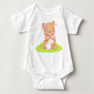 Creeper of the baby bibs Personalized Bear