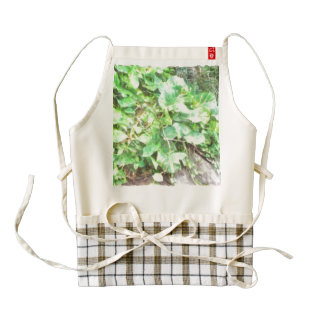 Creepers and vines snaking their way out zazzle HEART apron