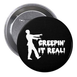 Creepin él zombi divertido real