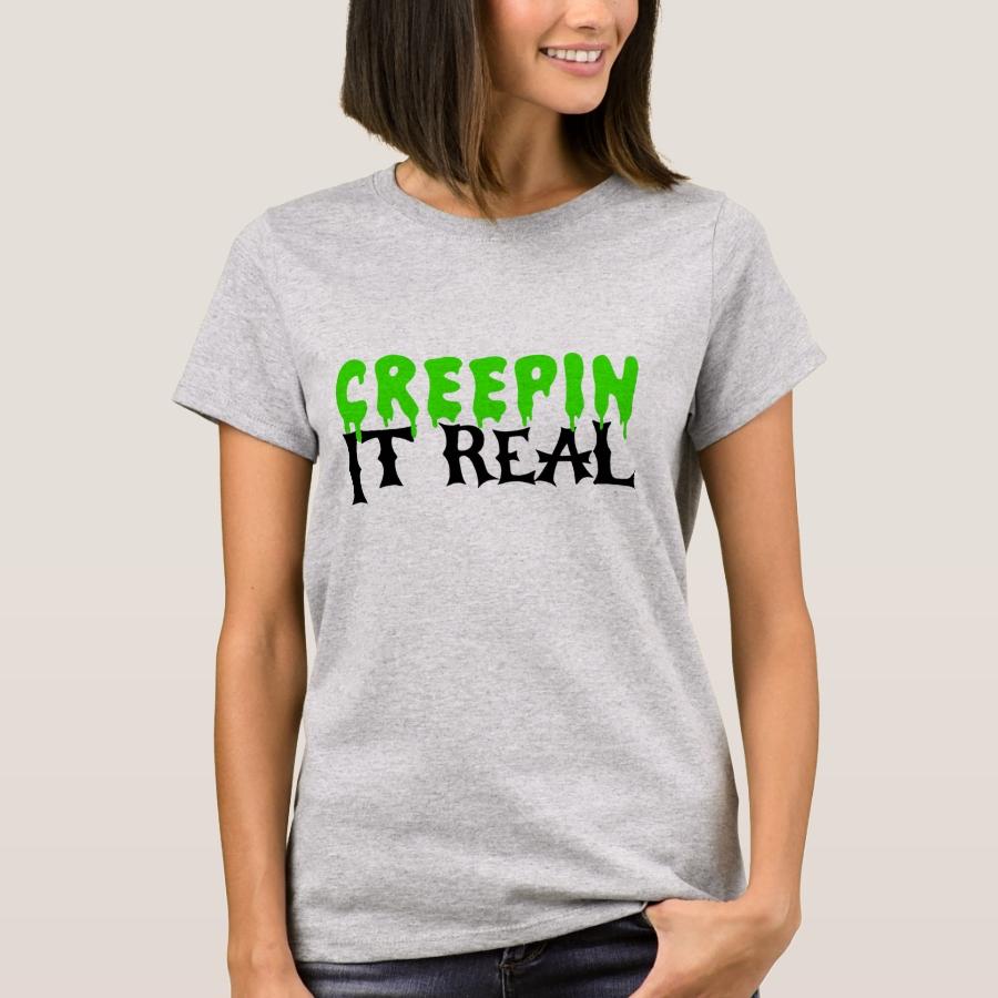 Creepin It Real Halloween T-Shirt - Best Selling Long-Sleeve Street Fashion Shirt Designs