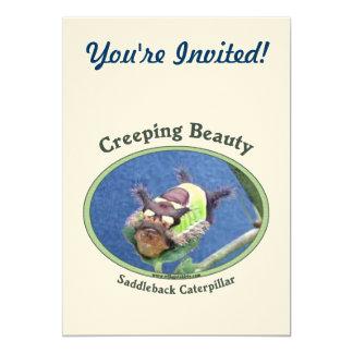 Creeping Beauty Caterpillar Card