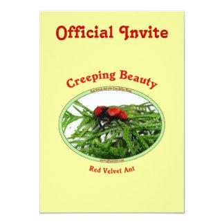 Creeping Beauty Red Velvet Ant Bug Custom Invite