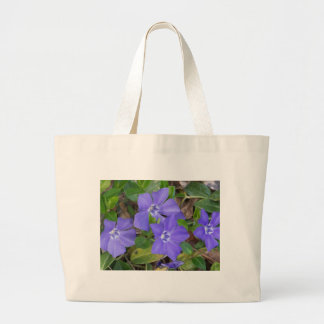 Creeping Blue Flowers Large Tote Bag