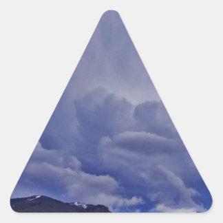 Creeping Clouds 1 Triangle Sticker