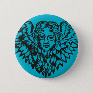 Creepy 17th Century Angel badge Pinback Button