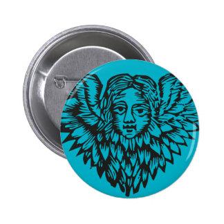 Creepy 17th Century Angel badge Pinback Button