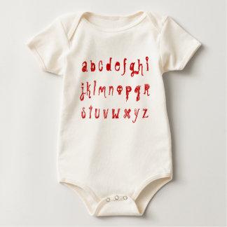 Creepy A B C Baby Bodysuit