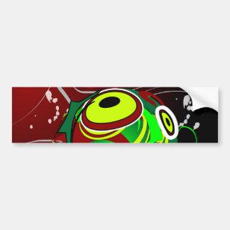 Creepy Abstract Red Green Eye Bumper Sticker