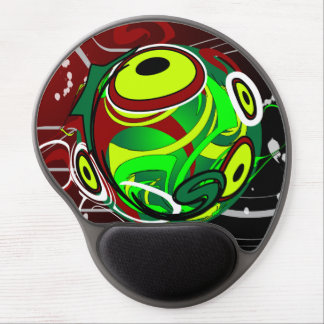Creepy Abstract Red Green Eye Gel Mouse Pad