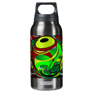 Creepy Abstract Red Green Eye Insulated Water Bottle