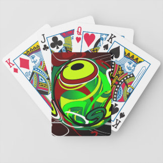 Creepy Abstract Red Green Eye Deck Of Cards