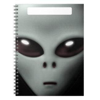Creepy Alien Spiral Notebook