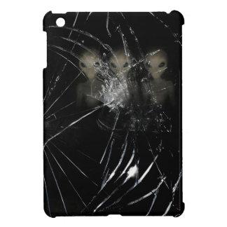 creepy aliens though broken glass iPad mini covers