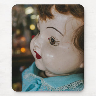 Creepy Antique Doll Mouse Pad