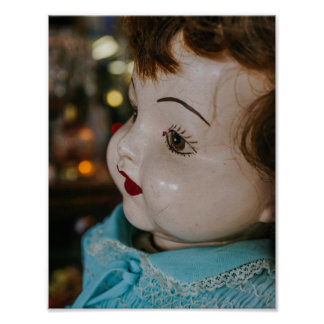 Creepy Antique Doll Poster