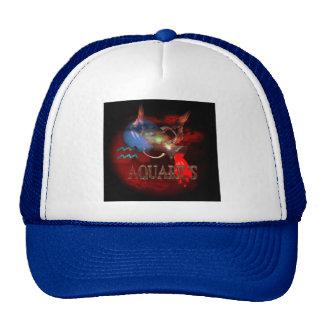 Creepy Aquarius zodiac astrology by Valxart.com Trucker Hats