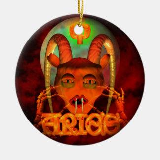 Creepy Aries zodiac horoscope by Valxart Ornaments