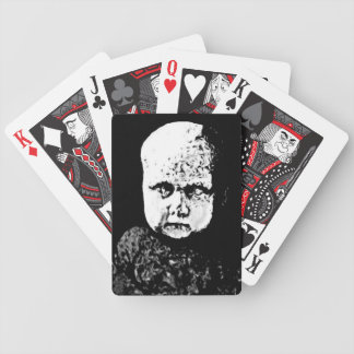 Creepy baby playing cards