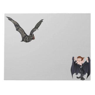 Creepy Bat and Vampire Notepad