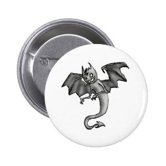 Creepy Bat Guy Pinback Button