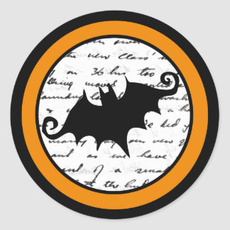 Creepy Bat Halloween Stickers Or Seals