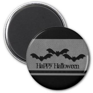 Creepy Bats Halloween Magnet, Light Gray 2 Inch Round Magnet