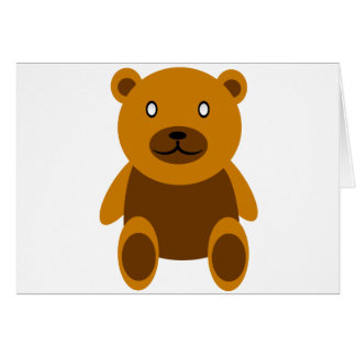 Creepy bear card
