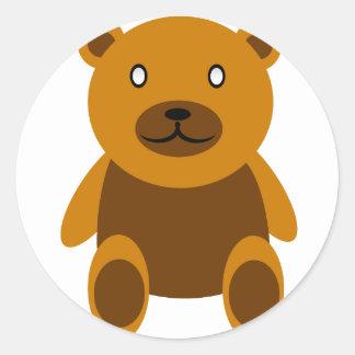 Creepy bear classic round sticker