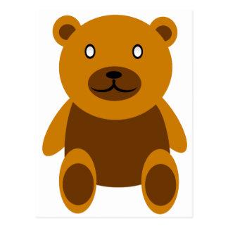 Creepy bear postcard