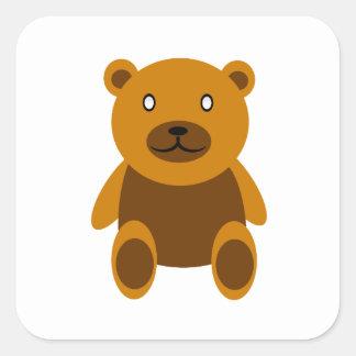 Creepy bear square sticker