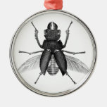 Creepy Beetle Bug with Scarey Pincher Mandibles Christmas Tree Ornaments