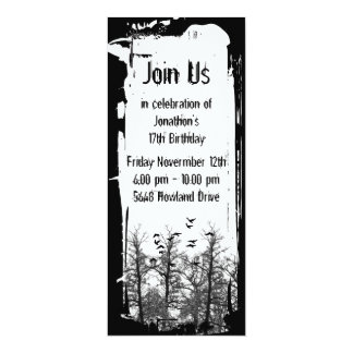 Creepy Birds And Trees Gothic Grunge Invitation