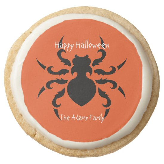 Creepy Black Spider Art Halloween Cookies