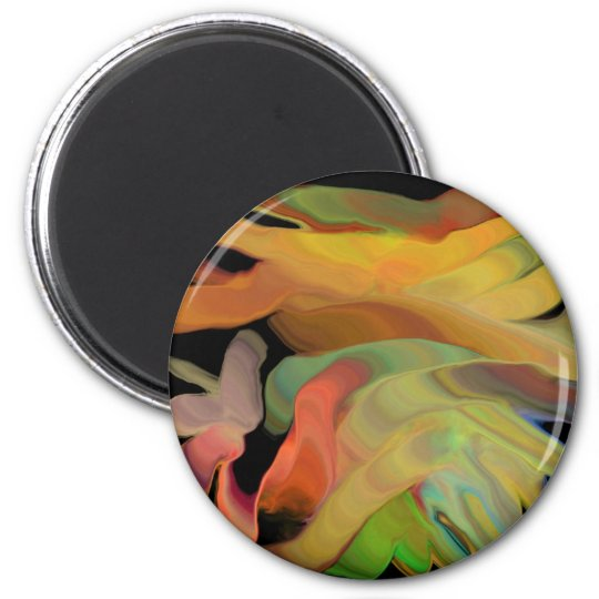 Creepy Blob Cicle Pattern Multi Colored Magnet