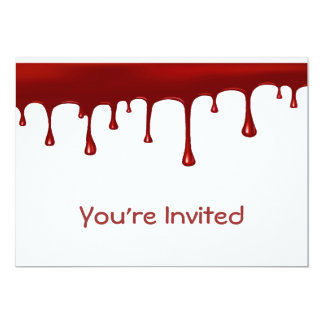 Creepy Blood Drip 5x7 Paper Invitation Card