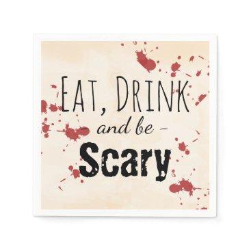 Halloween Themed Creepy Blood Splatter Halloween Napkin