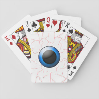 Creepy Bloodshot Eyeball Scary Halloween Games Deck Of Cards