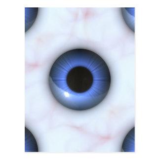 creepy blue eyes postcard